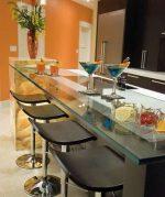 Барные стойки маленькие – стол, небольшие гарнитуры, угловые, дизайн, хрущевка, интерьер, студия, задвижная, видео