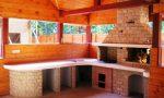 Беседка г образной формы – прямоугольных, шестигранных и восьмигранных, 46 ФОТО примера, а также советы как сделать схему беседки с мангалом, барбекю, камином