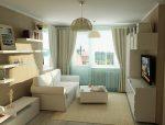 Дизайн узкой гостиной – фото длинного интерьера, вытянутая планировка, зал с северной стороны, комната круглого дома