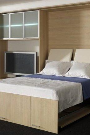 кровать шкаф трансформер двуспальная откидная встроенная мебель