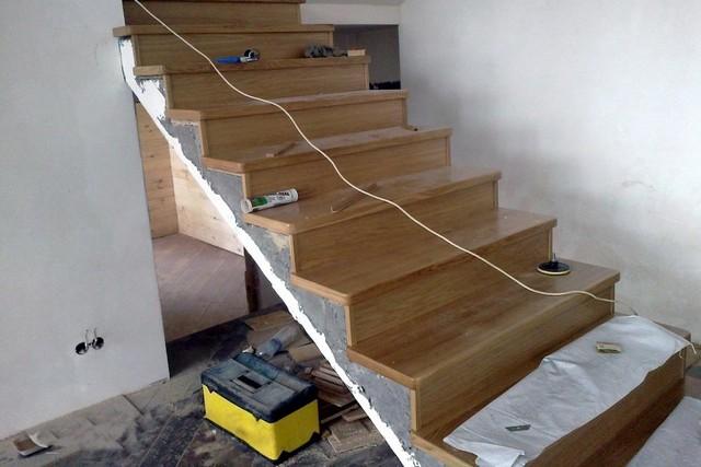 Как обшить лестницу своими руками фото 142