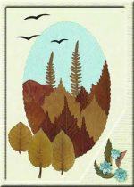Поделки на тему осень картины из листьев – Осенние поделки: аппликации из осенних листьев. Коллаж из осенних листьев