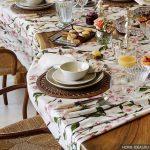 Скатерть красивая на стол – водоотталкивающая, клеенчатая или тканевая? Скатерть для кухни своими руками — пошаговая инструкция