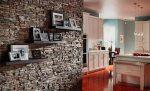 Стена из декоративного камня на кухне фото – фото дизайна, идеи по отделке стен, фартука, арок, ниш кухни искусственным и диким камнем