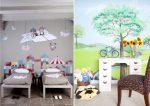 Фото оформление стен в детской комнате – декорирование с помощью рисунков, советы по отделке стен в детской спальне для мальчиков, девочек, подростков, фото