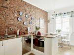 Кирпичная стена на кухне фото – идеи дизайна и примеры лучших интерьеров (40 фото)