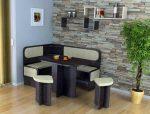 Уголок кухонный стол – без стола, обеденный, со стульями, фото, кухонный, для маленькой, мягкий, мебель, видео