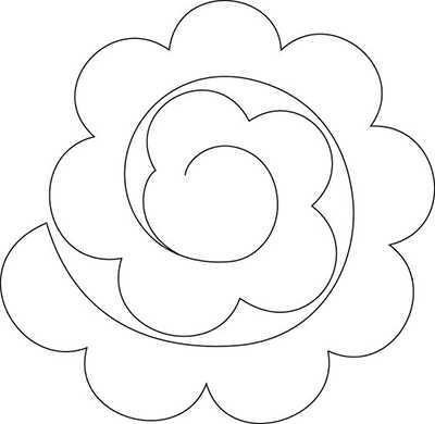 Цветы из бумаги своими руками шаблоны 30
