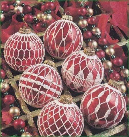 игрушки на елку крючком новогодние игрушки вязаные крючком схемы