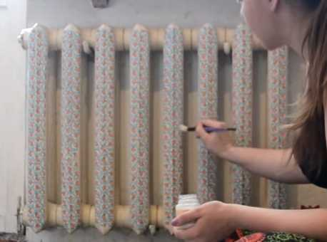 Декупаж батареи отопления своими руками салфетками: фото